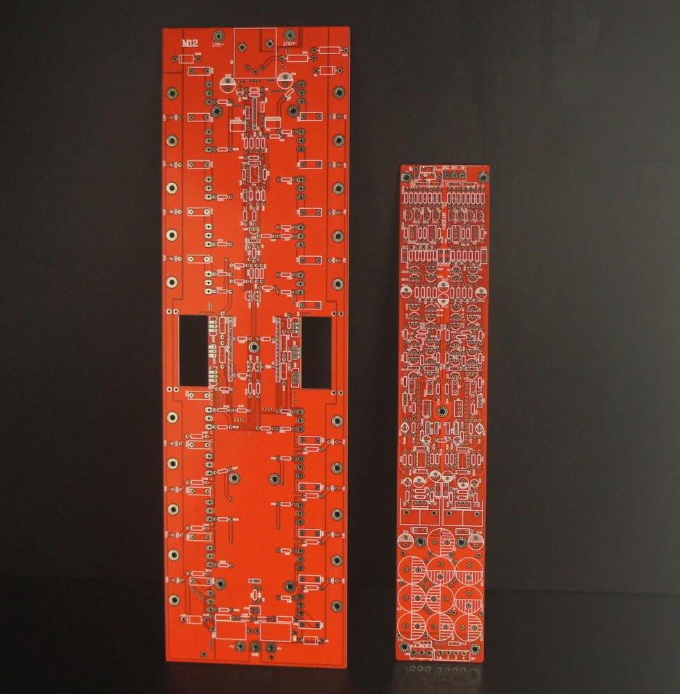 1pcs M12 full-balanced transistor pure post-amplifier circuit board 500Wx2 free shipping