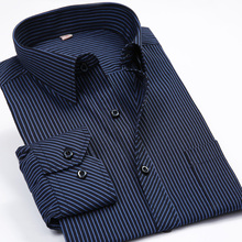 Fashion New 2017 Men Shirts Male Striped Formal Dress Shirt  Long Sleeve Mens Brand Casual Shirts Plus Big Size US Size 5XL 6XL