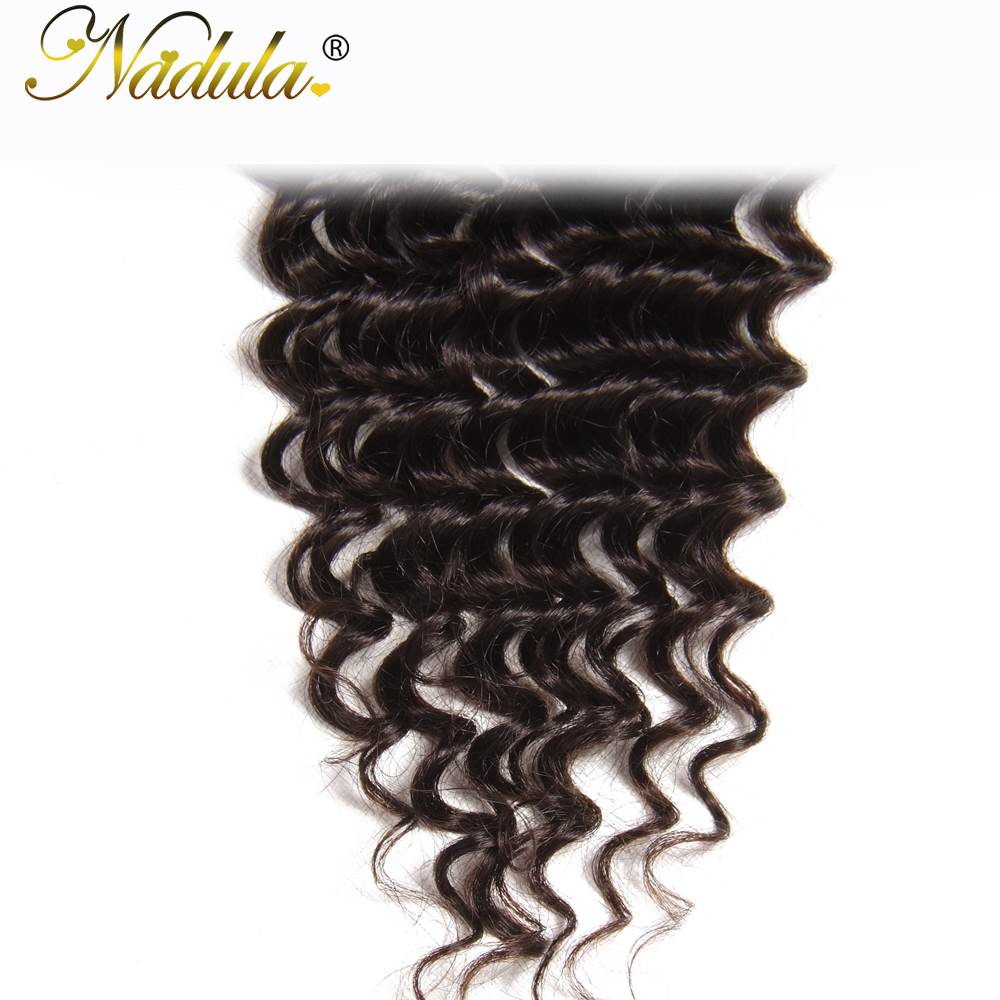 Nadula Hair  Deep Wave Closure 10-20inch  Hair s 4*4 Free Part Swiss Lace Closure  5