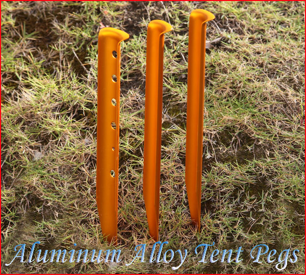 4 Pcs Aluminium Alloy Sand Snow Tent Pegs Stakes Golden For Outdoor C&ing Tent nail & 4 Pcs Aluminium Alloy Sand Snow Tent Pegs Stakes Golden For ...