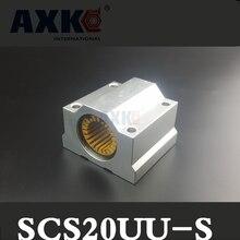 1 шт. SCS20 SC20UU scs20uu-s для 20 мм вал направляющая линейный блок подшипник с lm20uu-s подшипники конструкционный пластик низким уровнем шума