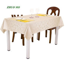 New European jacquard waterproof table cloth anti-hot oil Kitchen accessories decoration Rectangular Round
