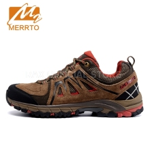 Merrto Hiking Shoes Men Genuine Leather Women Trekking Shoes Breathable Sneakers Climbing Mountain Shoes Women Men Hiking Shoes