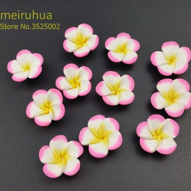 7882ae6dc12e4b 10pcs/lot 25mm Random Mix Handmade Soft Polymer Fimo Clay Rose Flower, for  DIY necklace bracelet hair ornament Jewelry Making