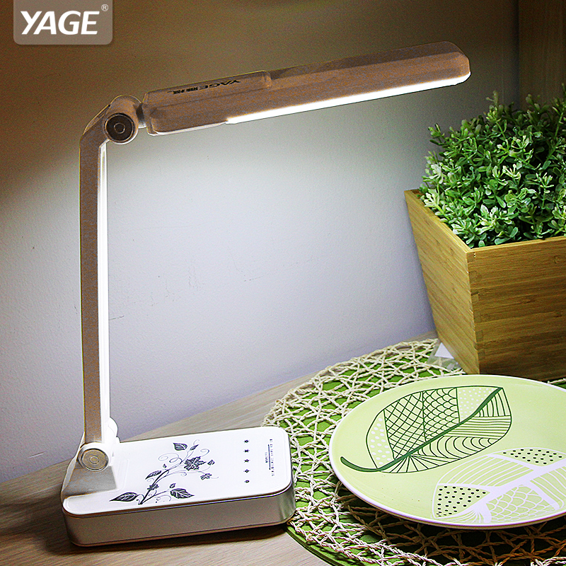 YAGE 3986 Led Lampe de Bureau 1.8 w Ajusté lexibly Table Lumineuse Non-limite Luminosité 30 pcs LED AC 110 v-220 v Noir/Blanc USA/EU/UK Plug