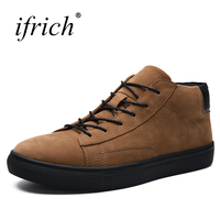 Ifrich New Casual Shoes For Men Lace Up Luxury Sneaker Black Khaki Branded Spring Summer Casual
