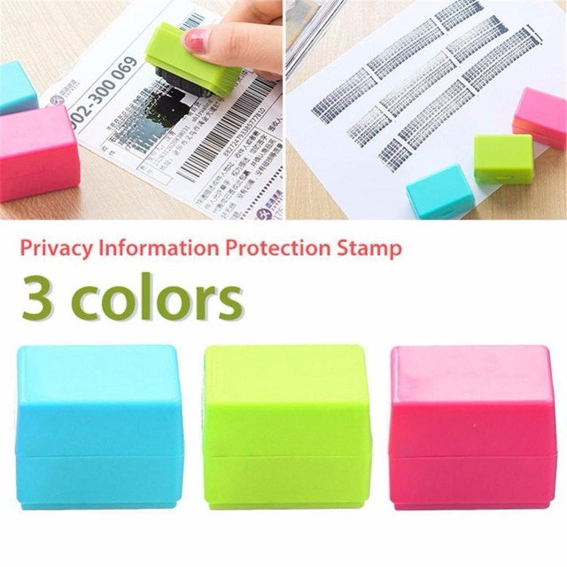 3 Colors Safe Roller Stamper Identity Theft Protection Security Stamp Seal Self Guard ID 2