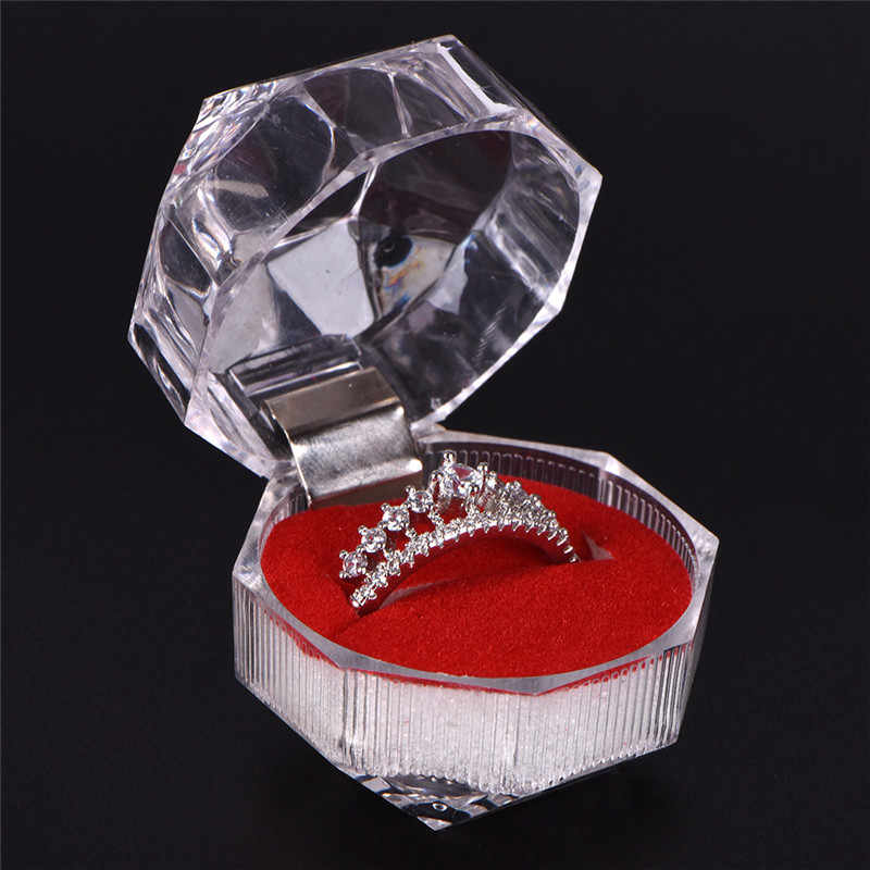 Acrylic Transparent Wedding Packaging Jewelry Box  Jewelry Package Ring Earring Box