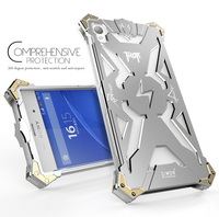 New Original Design Cool Metal Aluminum Armor THOR IRONMAN Protect Phone Cover Shell Case For Sony