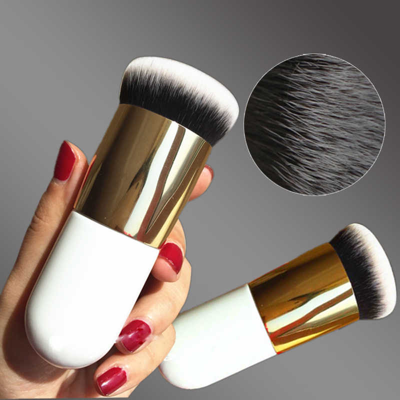 Baru Gemuk Pier Foundation Sikat Datar Cream Makeup Sikat Profesional Kosmetik Make Up Brush