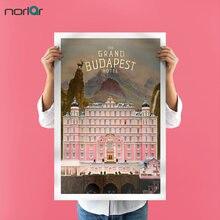Impressão em tela quadros a óleo arte da lona grand budapest hotel poster hd casa decoração da parede impressão em tela sem moldura