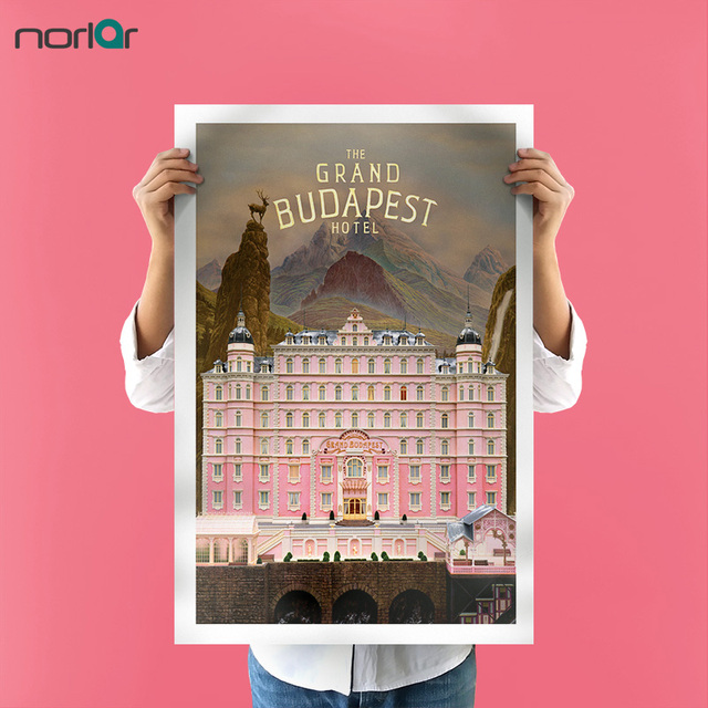 Canvas Printings Oil Paintings Canvas Art Grand Budapest Hotel Poster HD  Home Wall Decor Canvas Art