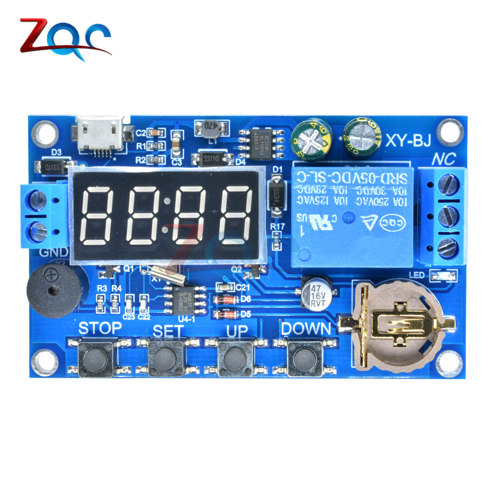 hight resolution of dc 5v real time timing delay timer relay module switch control clock synchronization multiple mode control