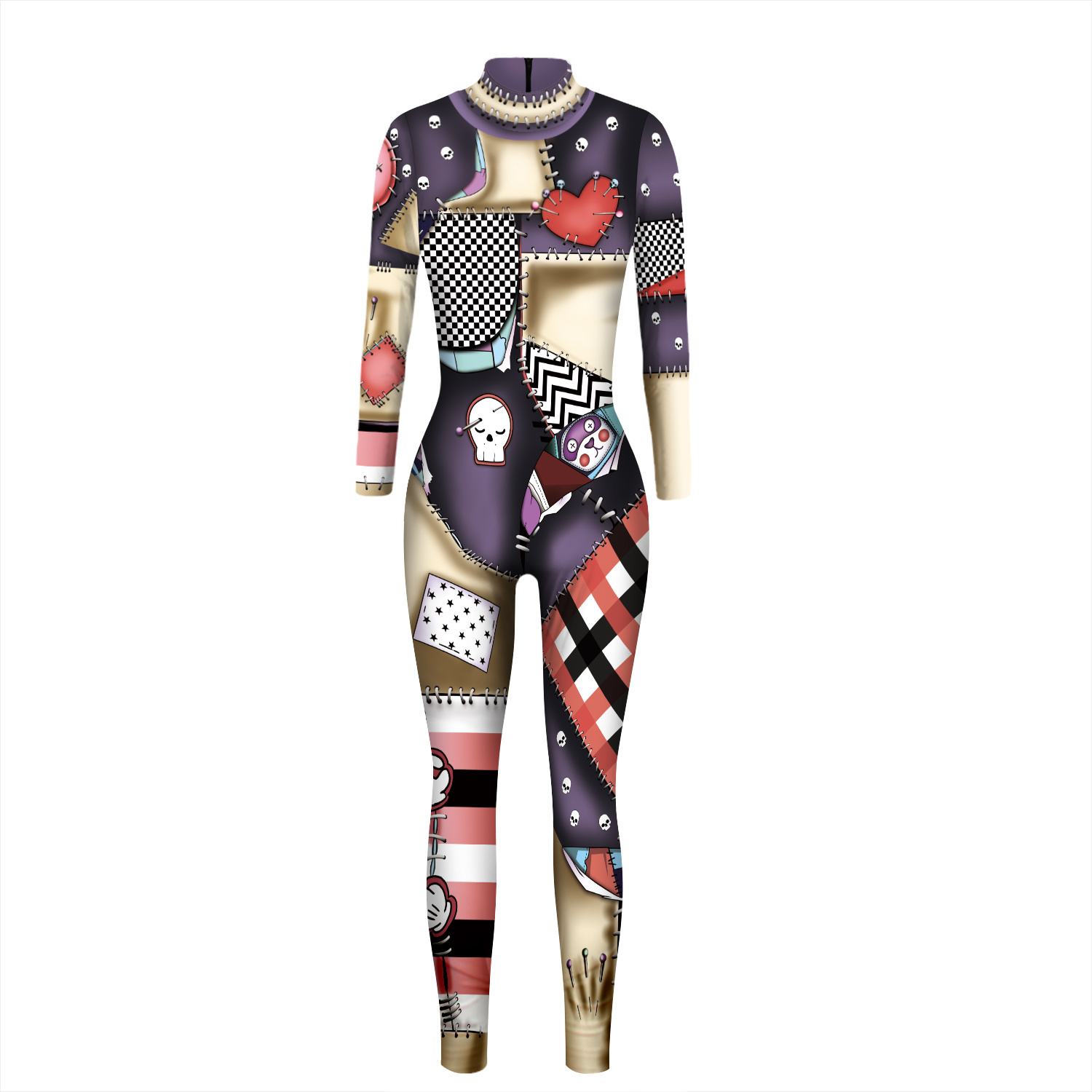 Gothic Mummy 3d Print Costume Cosplay Jumpsuit Sexy Women Costumes For Girl Long Sleeve Zipper Bodysuit Plus Size Good Quality