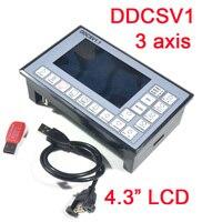500KHz 3 Axis Motion Controller Stepper Motor Servo Motor CNC Driver Engraving Digital LCD 4 3