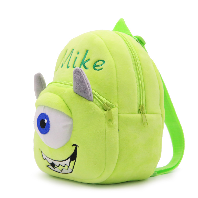 High Quality Popular Cartoon Monster 0 8Y Baby Plush Backpacks Soft Stuffed Toddler Kindergarten School Bags