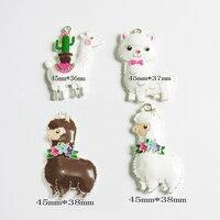 (Выберите Дизайн сначала) 10 шт./пакет все Эмаль Прекрасный ламы подвески для моды коренастый ювелирное