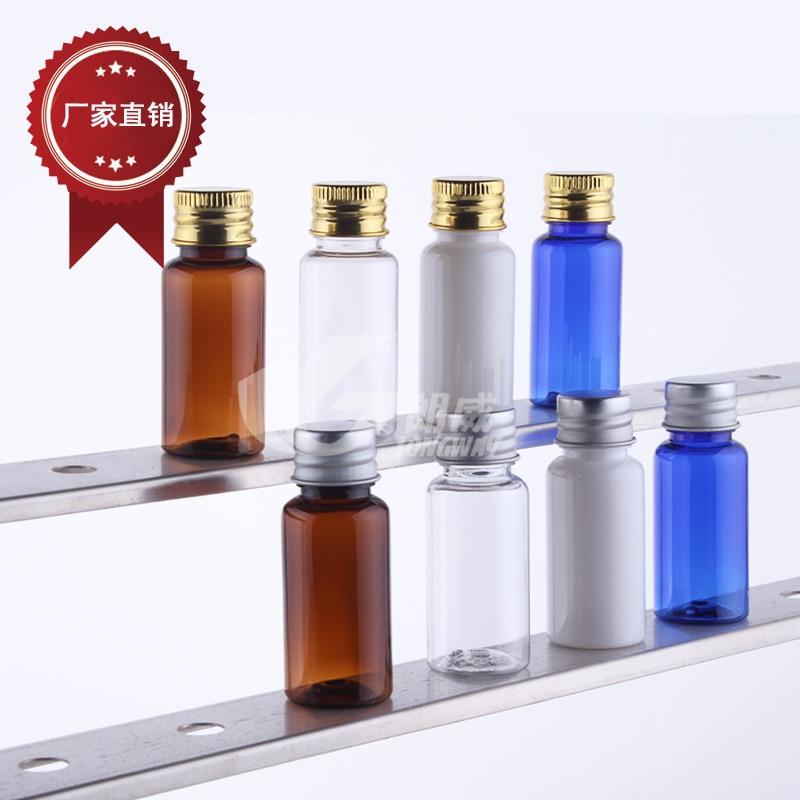 Skin Care Tools Free Shipping Capacity 15ml 50pcs/lot Transparent Aluminum Cap Bottles Aluminum Cap Hydrosol Bottle Refillable Bottles