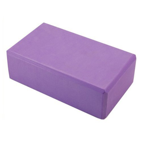 MUMIAN 1 PCS Purple Yoga Block Brick Foaming Foam Block Home Exercise Pilates Tool Stret ...