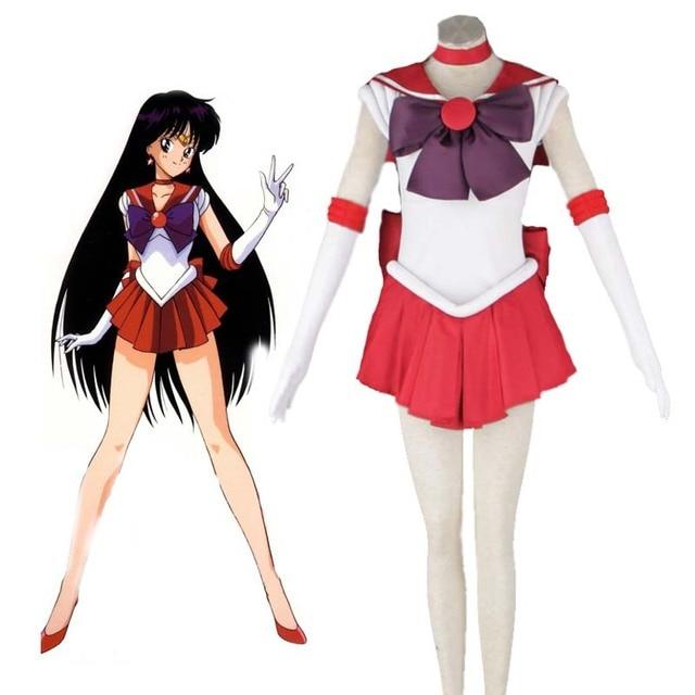 2018 anime sailor moon sailor mars hino rei kampf uniform anime cosplay kost m nach ma. Black Bedroom Furniture Sets. Home Design Ideas