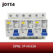 DPNL 1P+N 63A 230V~ 50HZ/60HZ Residual current Circuit breaker with over current and Leakage protection RCBO dmwd dpnl dz30le 32 1p n 25a 220v 230v 50hz 60hz residual current circuit breaker with over current and leakage protection rcbo