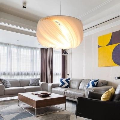 Image 4 - Nordic Modern LED creative Aluminum pendant light parchment deco pendant lamps living room lighting LED suspension luminairesPendant Lights   -