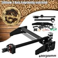 Newest 40*30cm 500mw 2Axis A3 Laser Engraving Cutting Engraver CNC Home DIY Cutter Logo Printer Using Stepper Motor Machine Tool