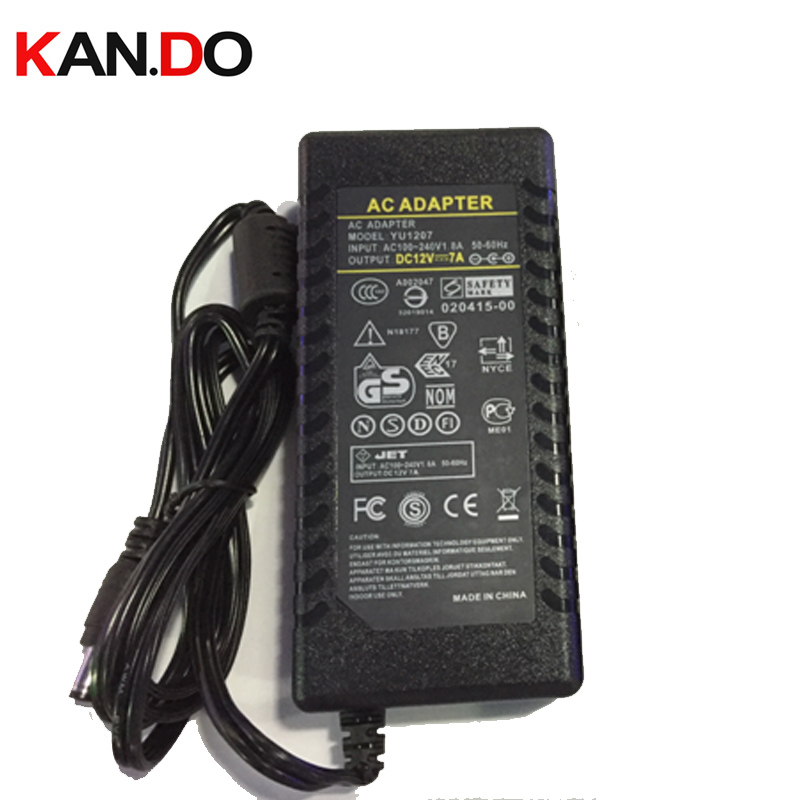 US/Eu/AU/UK camera power box power adaptor AC transformer 12V 7A DC adaptor 110-240V to 12V Power Supply 5.5x2.1mm DC 12V power ac to dc 12v 1a power adaptor with 5 4mm dc plug eu type 110 240v