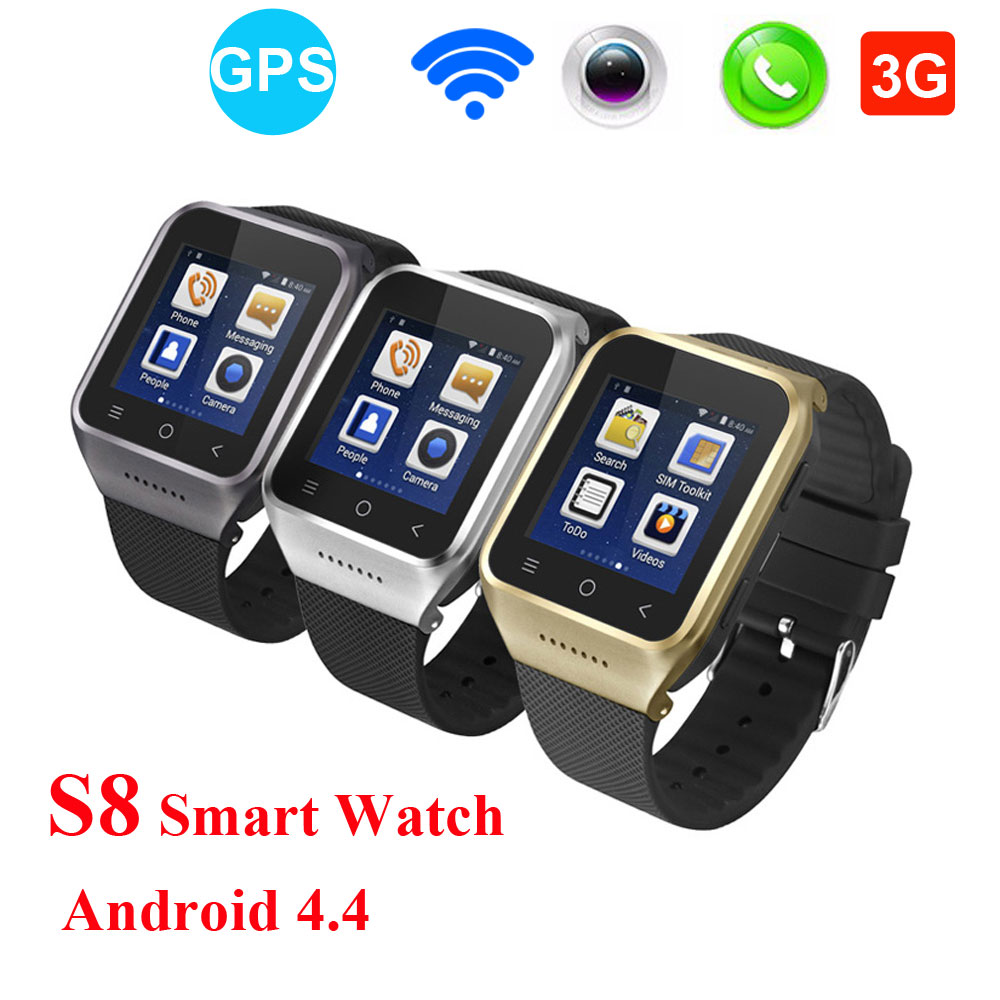 2017 NEW Android 4.4 S8 Smart Watch Supports GSM 3G WCDMA Wristwatch BT4.0 Wifi Camera GPS SmartWatch Call Phone PK Q18 autoprofi авточехлы sheep skin имитац дубл овчины 9 предм 3 молнии т сер св серый разм м 1 5