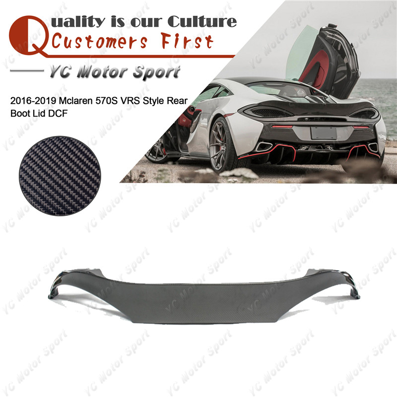 Car Accessories Dry Carbon Fiber VRS Style Trunk Boot Lid Fit For 2016-2019 Mclaren 570S Rear Duck Bill Cover