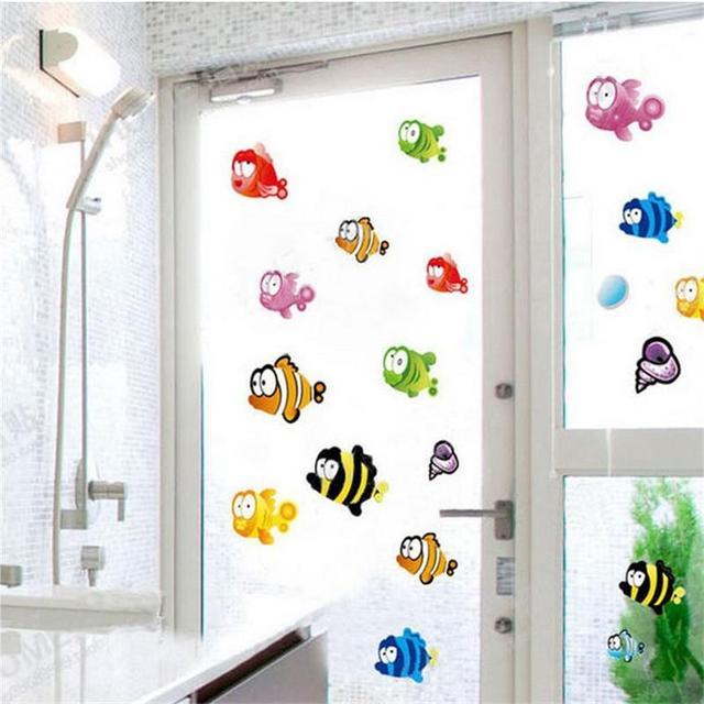 Underwater Fish Starfish Bubble Wall Sticker For Kids ...