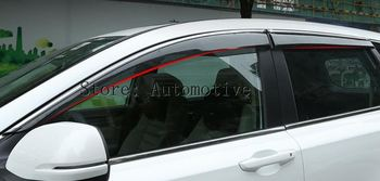 4PCS Plastic Exterior Side Window Deflector For Honda CR-V CRV 2017-2018