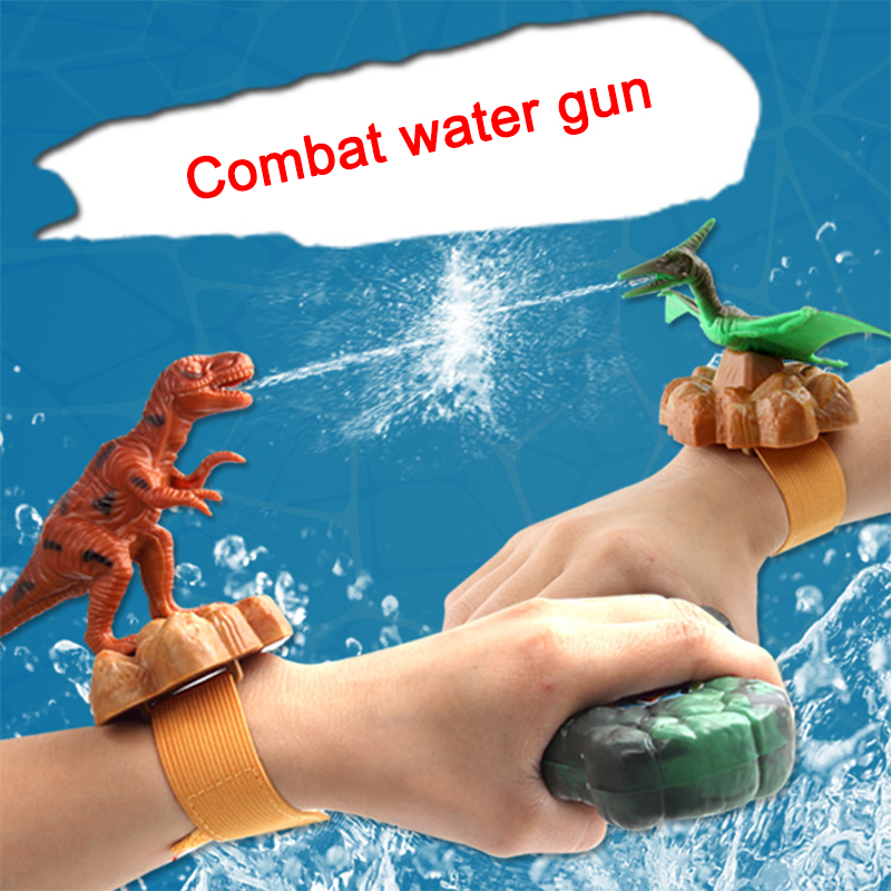 Mini Wrist Water Gun Plastic Swimming Pool Beach Outdoor Shooter Toy Sprinkling Dinosaur Animals Birthday Gift For Boys Children