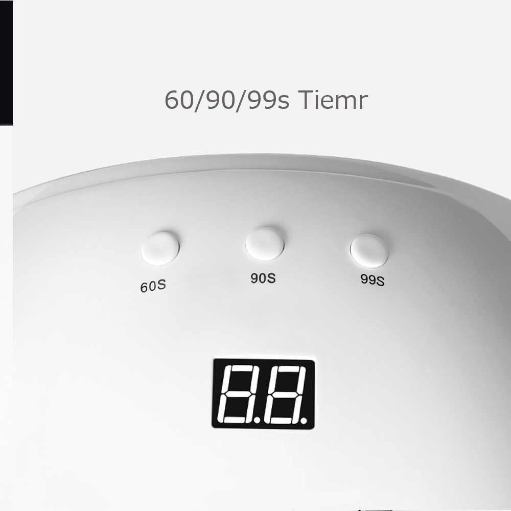 SUN8 24 W lampa UV LED lampa do paznokci do Manicure suszarka do paznokci utwardzania żel do malowania paznokci polski z automatyczny czujnik kabel USB dwie strony światła