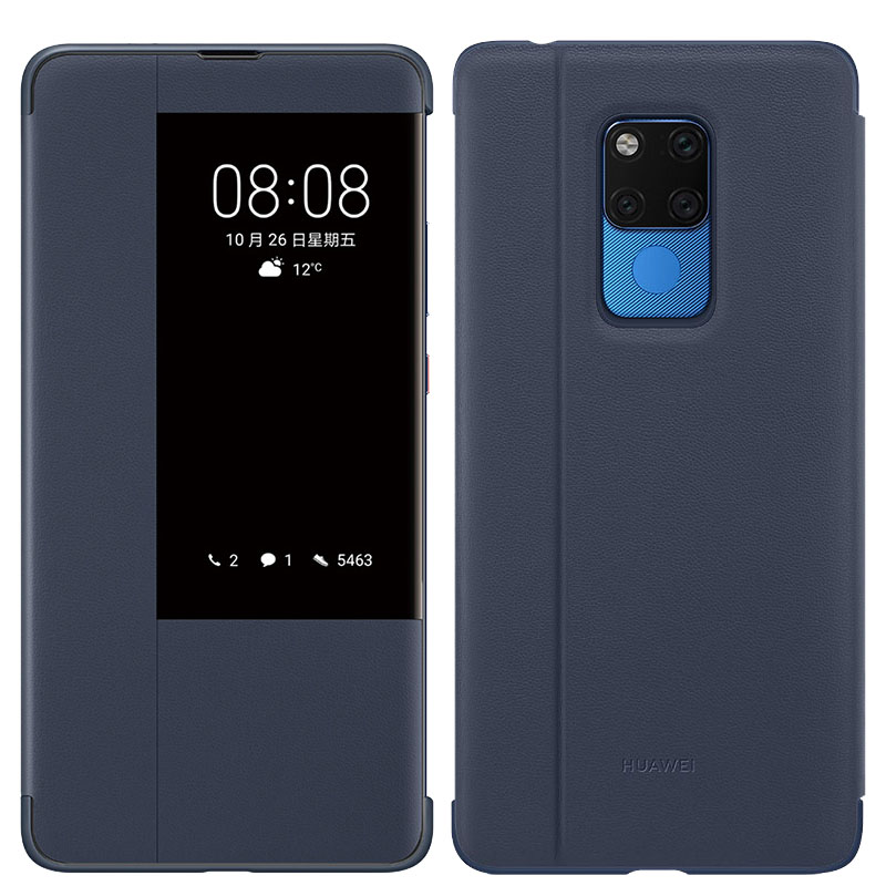 Image 4 - Original Official Huawei Mate 20 X Flip Case Huawei Mate 20 X Leather Case Smart Touch View Window Cover Mate 20X phone Cases-in Flip Cases from Cellphones & Telecommunications
