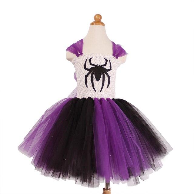 5250ec177 Patrón araña de la Historieta Cabritos Del Vestido Del Tutú Muchachas de La  Princesa Vestidos de ...