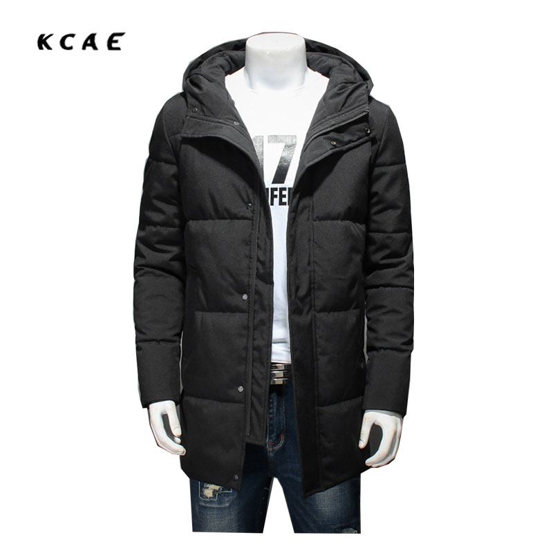 Winter coat Large size Cotton clothing male Loose plus Fat to increase the Code in the long section of Men's jacket Warm cotton sky blue cloud removable hat in the long section of cotton clothing 2017 winter new woman
