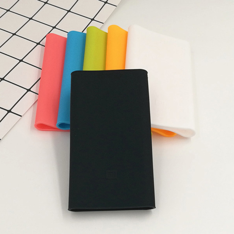 High quality Silicone Case Cover for Xiaomi Power Bank 2 10000mAh Fit For mi 2nd Generation Powerbank covers gel rubber cases