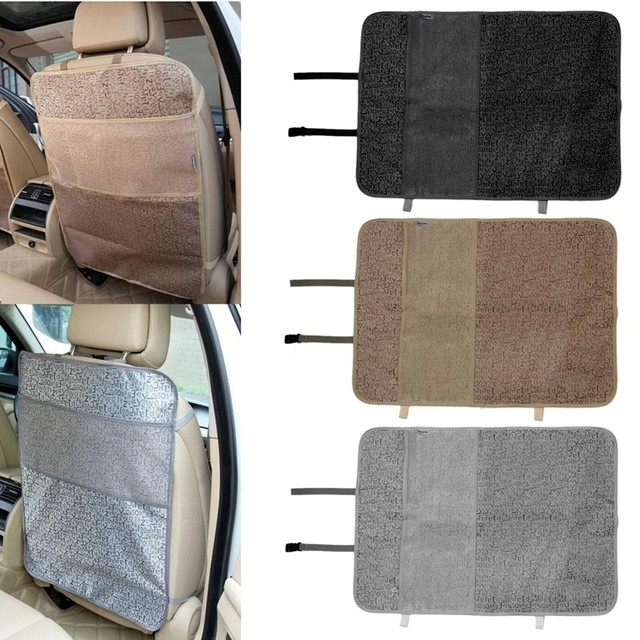 Plastic Car Safety Seat Back Cover Protector Kids Kick Clean Mat Pad Anti Stepped Dirty Car Interior Mat Car Seat Accessories