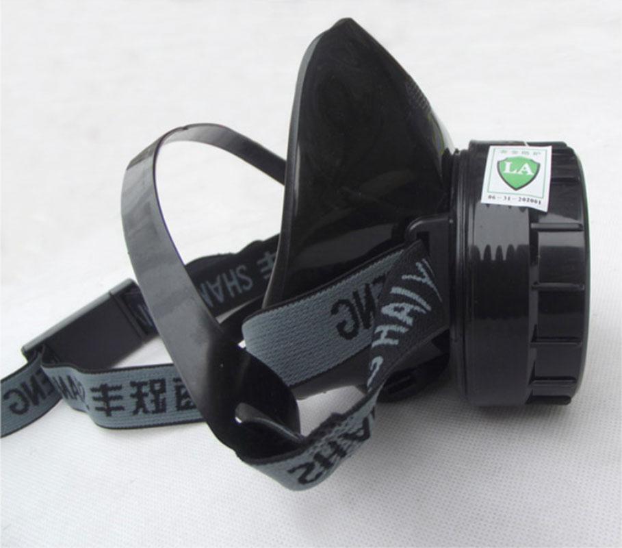 Respiratore Gas maschera di protezione maschera di Carbone Attivo di Singolo serbatoio di anti polvere veleno di pesticidi verniciatura a spruzzo traspirante