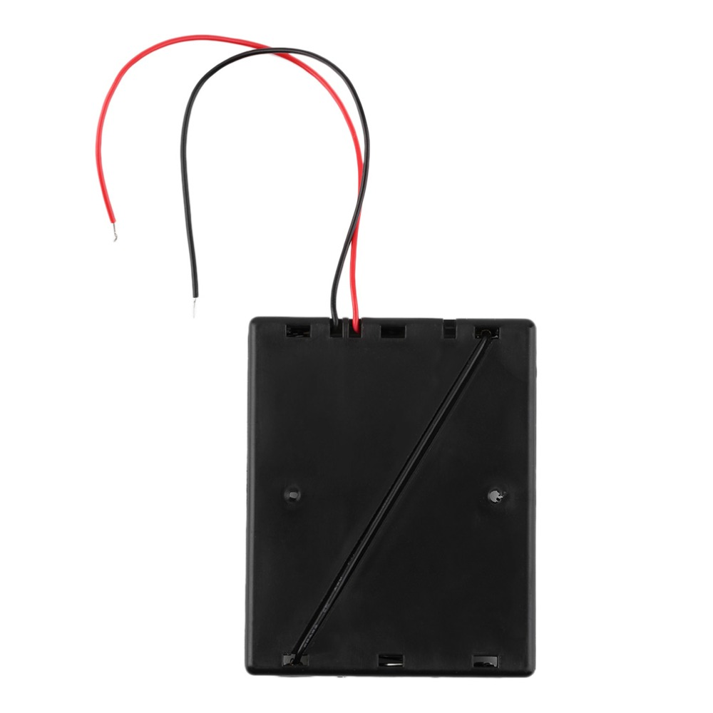 Plastic Battery Black Storage Case Box Holder For 3x18650 3.7V With ...