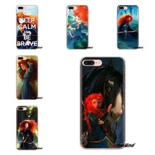 For Xiaomi Redmi 4A S2 Note 3 3S 4 4X 5 Plus 6 7 6A Pro Pocophone F1 Brave Princess Merida Archer Transparent Soft Cases Covers(China)