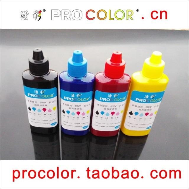 US $27 21 9% OFF|PROCOLOR ink Bottle refill kit Waterproof 664 Pigment Ink  for EPSON CISS L380 L386 L486 L362 L365 L366 L456 L566 Inkjet pritner-in