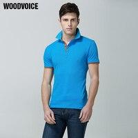 Woodvoice מותג חולצת פולו בגדי גברים חולצת פולו סיטונאי מוצק מקרית גברים טי חולצות הכותנה Slim Fit חולצת פולו Homme 01