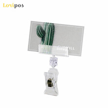 Clear POP Supermarket Or Retail Store Plastic Sign Promotion Paper Card Holder Display Clip By Good Quality&Packing 30pcs