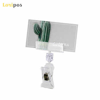 Clear POP Supermarket Retail Store Plastic Sign Clip Promotion Paper Card Holder Display Clip Label Holder Price Tag Snap 30pcs - DISCOUNT ITEM  5% OFF All Category
