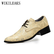 Wedding formele mannen schoenen designer luxe merk mariage snake skin leather oxford schoenen voor mens puntschoen dress schoenen 2019(China)