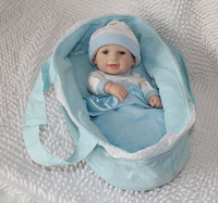 Silicone Reborn Baby Doll Little Girl Doll Baby's Bottle Brinquedos Early Education Toy Doll Sleeping Bag Smile Dolls Kids Gifts