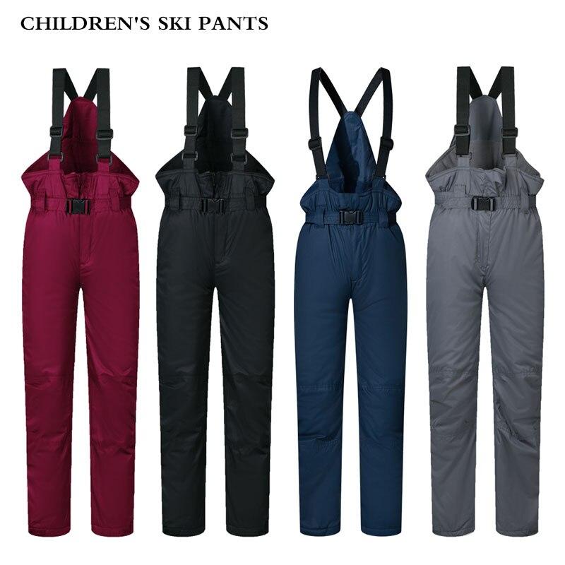 Ski Pants Kids Girls Boy Outdoor Windproof Waterproof Warm Snow Trousers Children Winter Skiing And Snowboarding Pants Brand