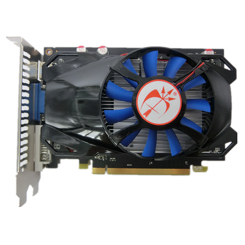 Free Shipping New real ATI Radeon R7 350 2gb 128Bit GDDR5 graphics card VGA DVI HDMI Independent Game Video Card R7-350 go to bed blue